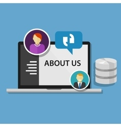 About us page concept icon data profile company vector