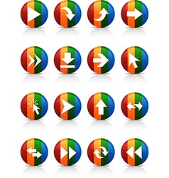 Arrows buttons vector image