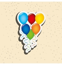 balloons party design vector image