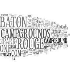 Baton rouge campgrounds text word cloud concept vector