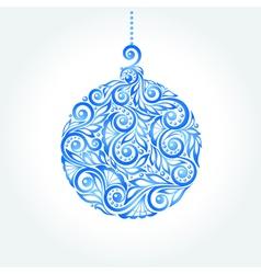 Beautiful blue christmas ball vector