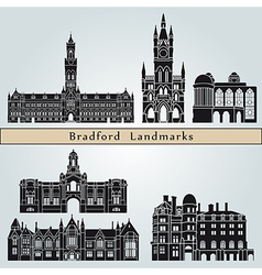 Bradford landmarks and monuments vector image vector image