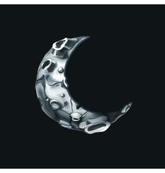 Crescent moon vector image