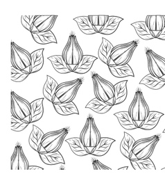 Decorative flower pattern background vector