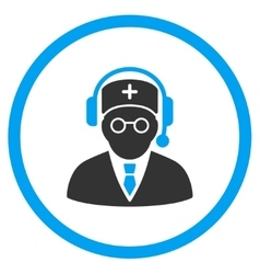 Doctor listen icon vector