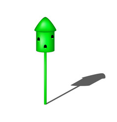 dovecote in green design with shadow vector image vector image