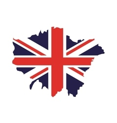 England map isolated icon vector