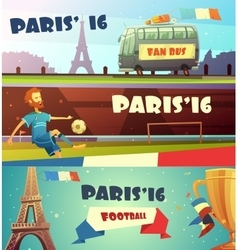 Euro 2016 soccer banner set vector image vector image