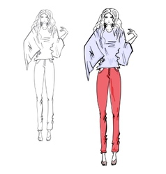 Fashion models vector image vector image