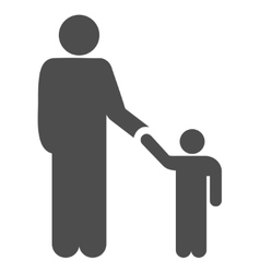 Father Child Flat Icon vector image