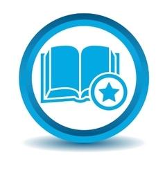 Favorite book icon blue 3d vector