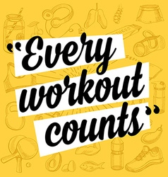 Fitness motivation quote poster vector image vector image