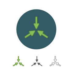 flat arrow icon vector image vector image