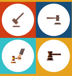 Flat icon lawyer set of legal government building vector