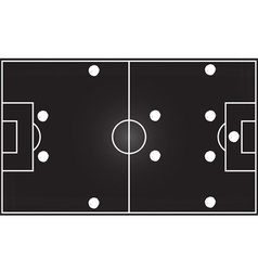 Football field with 4-4-2 formation vector image