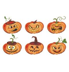 Frightful halloween pumpkin vector image vector image