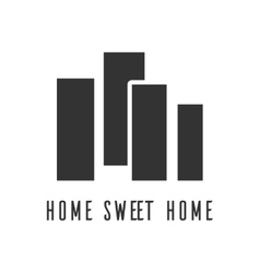 icon Home sweet home city vector image vector image