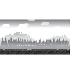 landscape for gamebackground for game black and vector image vector image