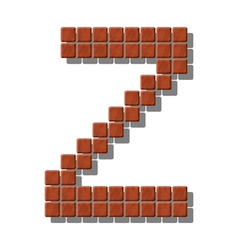 Letter z made from realistic stone tiles vector
