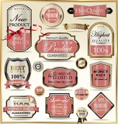 Luxury golden labels vector
