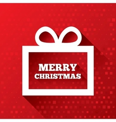 Merry Christmas greeting card on red background vector image vector image