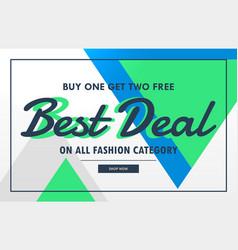 Modern sale voucher banner for best deal vector