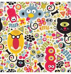 monster pattern vector image
