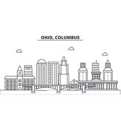 Ohio columbus architecture line skyline vector