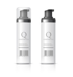 Realistic cosmetics bottle can spray vector