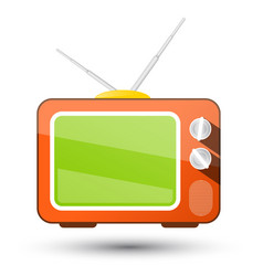 Retro tv television icon isolated on white vector