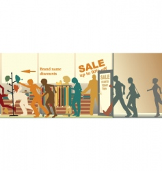 sale opens vector image vector image