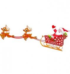 Santa claus in sled vector