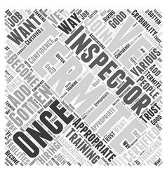 Termite inspector word cloud concept vector