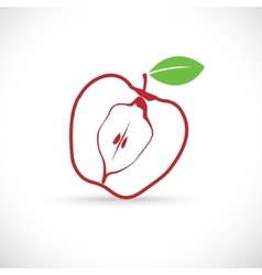 The apple symbol icon vector
