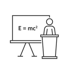 thin line physics teacher vector image