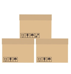 Three boxes vector image