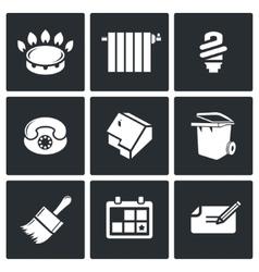 Utilities icons set vector