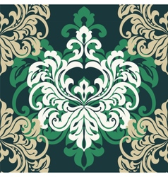 Vintage damask floral ornament vector image