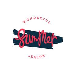 Wonderful summer season vector