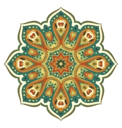 Ornate eastern mandala vector