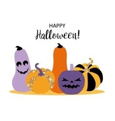 Halloween glamorous sparkling pumpkin vector