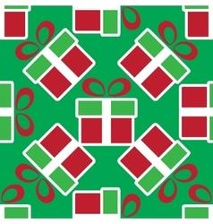 Colorful christmas gift boxes holiday seamless vector