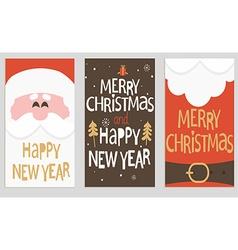 Santas message banners vector image