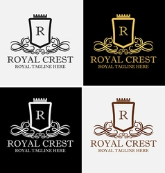 Royal crest logo vector