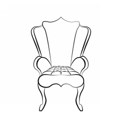 Armchair in art deco style vector