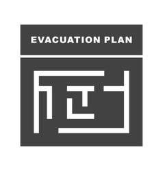 Evacuation Plan vector image