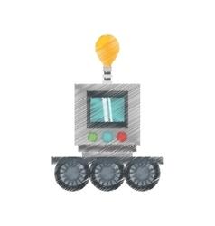 Drawing technology robot bulb light display vector