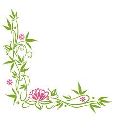Bamboo lotus flower vector