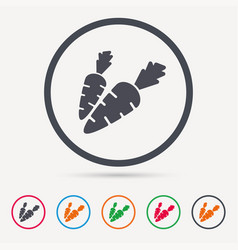 carrot icon natural vegetable sign vector image