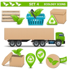Ecology icons set 4 vector